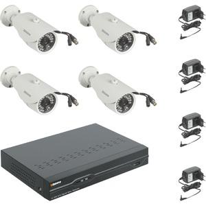 AHD-CCTV Set 1080P DVR8 2x Vario Kamera IR-LED + Rekorder
