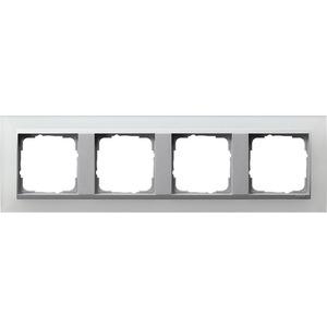 4-fach Abdeckrahmen für AluminiumEvent Opak weiß