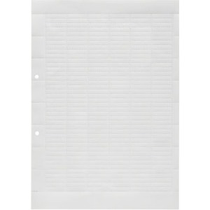 Klemmenmarkierer / Verbindermarkierer 27 x 6,3 mm Polyester A4 weiß