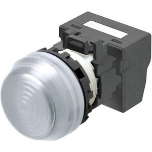 Leuchtmelder M22N Kunststoff sphärisch Weiss 24V Push-In Plus