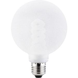 Energiesparlampe Globe Ø 100 mm 10 Watt E27 Eiskristall klar