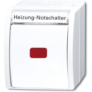Heizung-Notschalter mit Aufdruck-2-polig