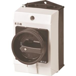 Hauptschalter 3-polig + 2 Schließer + 1 Öffner 20 A HALT-Funktion 90 °