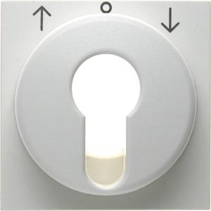 Berker Zentralstück für Jalousie-Schlüsselschalter/-taster S1/B3/B7 Glas weiß