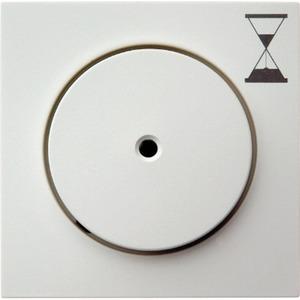 Berker Zentralstück mit Druckknopf für Zeit-Relais-Schalteinsatz