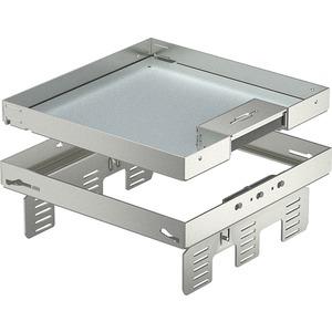 Quadratische Kassette mit Schnurauslass 243x243mm V2A