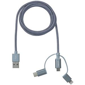 Ladekabel 3 IN 1 MICRO/USBC/LIGHT 1,2m