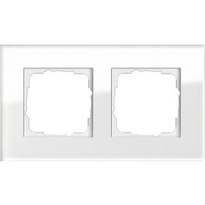 2-fach Abdeckrahmen für Esprit Glas weiß