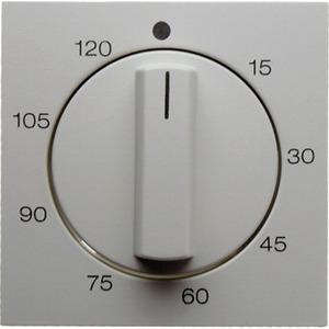 Zentralstück mit Regulierknopf für mech. Zeitschaltuhr Glas weiß