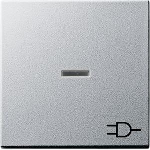Wippe Kontroll Symbol Steckdose System 55 Aluminium