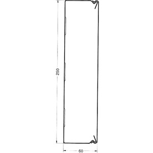 Leitungsführungskanal Stahlblech BES Set 60x250 mm weiß