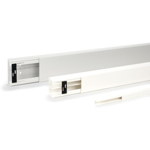 Leitungsführungskanal m. Trennwand aus PVC LE SET 60x230 mm cremeweiß