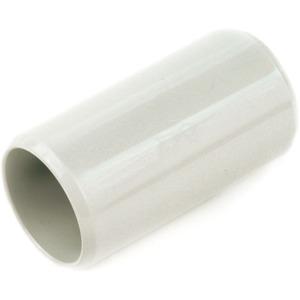 Steckmuffe hellgrau zur Verbindung von starren oder biegsamen Rohren
