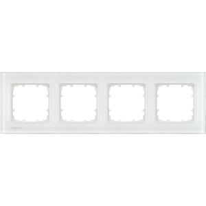 4-fach Glas Rahmen DELTA miro Glas weiß 303x90mm