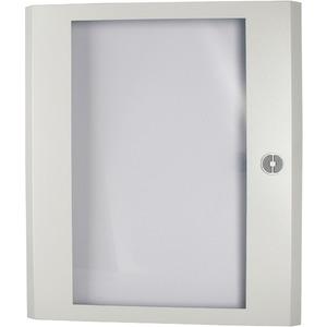 Stahlblechtür transparent mit Drehriegelverschluss HxB=1500x800mm grau