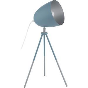 Tischleuchte CHESTER-P E27 1x60W dunkelblau/silber