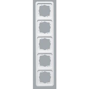 Abdeckrahmen 5-fach Weiß waag/senkr. Montage 364,5 x 80,5 mm