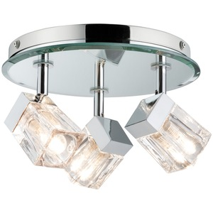 WallCeiling Trabani IP44 3x20W G9 Chrom/Transparent 230V Metall/Glas