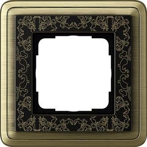 1-fach Abdeckrahmen für ClassiX Art Bronze schwarz