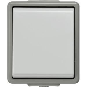 DELTA fläche IP44 AP dunkelgrau/hellgrau Ausschalter 1pol. 10A 250V