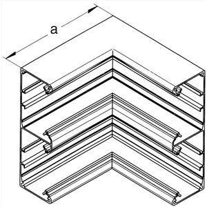 Brüstungskanal Aluminium SIGNO BA Inneneck 70/220D silber eloxiert