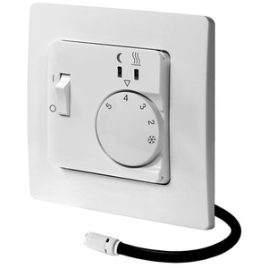 UP Temperaturregler mit Fühler 50x50 230VAC 1S 10A 10 - 40C Schalter E/A