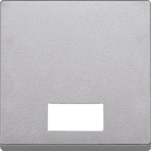 Wippe mit rechteckigem Symbolfenster aluminium