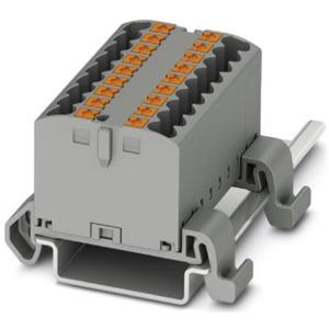 Verteilerblock waagrecht 6 x 2,5mm² schwarz/gelb