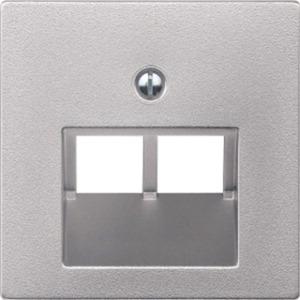 Zentralplatte für UAE-Einsatz 2-fach aluminium