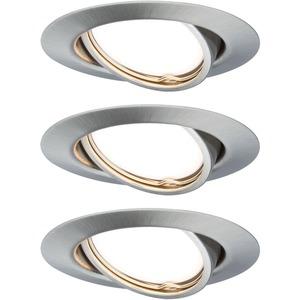 Einbauleuchten-Set Base rund schwenkbar 3x5W GU10-LED Eisen gebürstet 3-stepdim