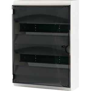 Eaton AP-Kleinverteiler mit Kunststofftür Weiß mit Rückwand BC-A-3/39-TT