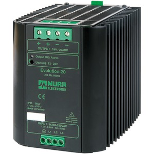 Evolution 3-phasig. 360-520V AC / 22-28V DC / 20 A 2-Phasen-Betrieb