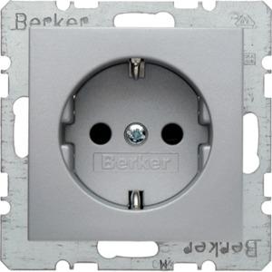SCHUKO-Steckdose B.1/B.7 - alu/ matt