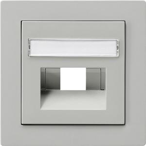 Abdeckung beschriftbar für UAE/IAE/ISDN für S-Color grau