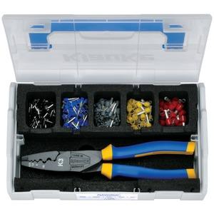 Sortimentskasten L-BOXX Mini mit Presswerkzeug + isol. Aderendhülsen 0,5-10 mm²
