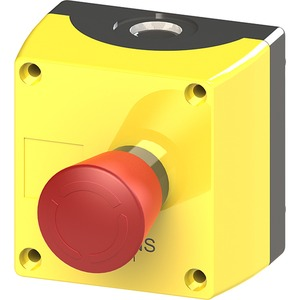 Gehäuse für 22mm ProG.Metallausf. 1 Befehlsstelle gelb ohne Schutzkra
