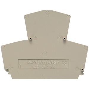 Abschlussplatte Direktmontage SAK-Reihe dunkelbeige 1,5 mm