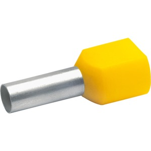 Aderendhülse für 2 Leitungen isoliert 2x6 mm² 14 mm lang Cu