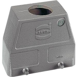 Tüllengehäuse 10 B Han B M40 1x Bauform Hohe Bauform Querbügel pulver