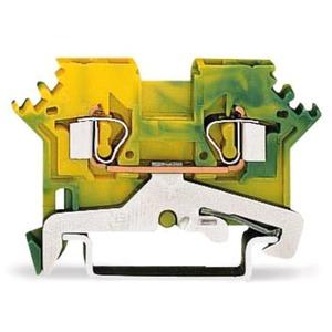 2-Leiter-Schutzleiterklemme 0,08 - 2,5 mm² grün-gelb