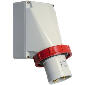 Wandgerätestecker 63A 4P 400V 6h IP67