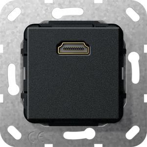 HDMI Gender Changer Einsatz für System 55 schwarz matt