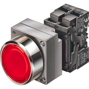 Leuchtdrucktaster 22mm Metall rund tastend