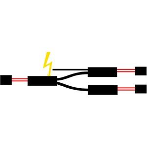 T-Abzweiger für 3 Heizbänder unf 3 Endabs
