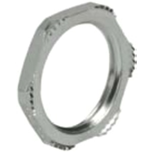 Gegenmutter Kabelverschraubung EMV M16 x 1,5 Messing / Vernickelt