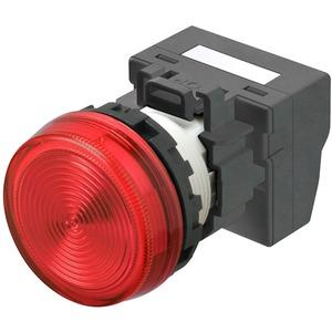 Leuchtmelder M22N Kunststoff Flach Rot 24V Push-In Plus