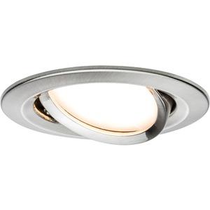 Einbauleuchte Nova rund schwenkbar 1x6,5W COIN LED 2700K Eisen geb/Alu