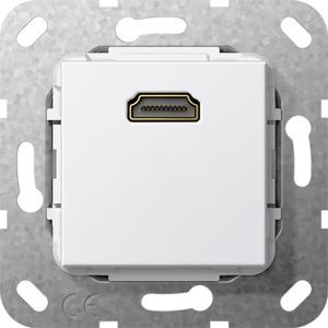 HDMI Gender Changer Einsatz für System 55 reinweiß