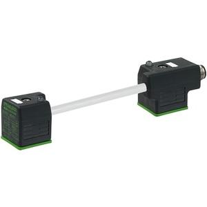 Stecker M12 auf MSUD Doppel-Ventilstecker BF A 18mm 3 x 0,75 GRAU 0m
