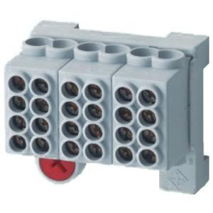 Hauptleitungsklemme ZK 25/4 3x4-1X8 Typ 114-12358000-00 isoliert